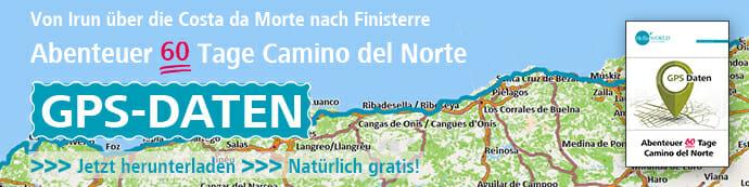 Dies ist der Banner für die Camino del Norte GPS Daten.
