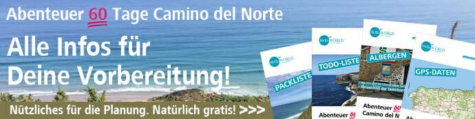 Hier sieht man den Banner für den Beitrag Camino del Norte - alle Infos zur Vorbereitung.