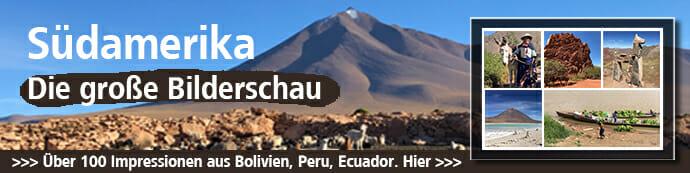 Dies ist der Banner für die Südamerika Bilderschau.