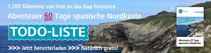 Das Bild zeigt den Banner für den Download der Todo-Liste Abenteuer 60 Tage spanische Nordküste