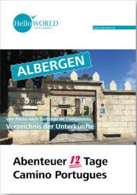 Dies ist das Produktbild für das Albergen- und Unterkunftsverzeichnis des Camino Portugues.