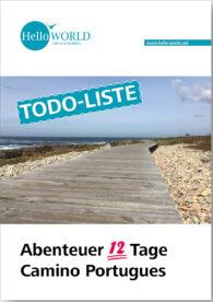 Dies ist das Produktbild für die Camino Portugues Todoliste.