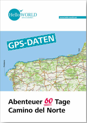 Hier sieht man den Titel für den Download der Camino del Norte GPS-Daten.