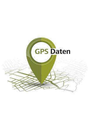 Hier sieht man das Icon für die GPS Daten für den Camino del Norte