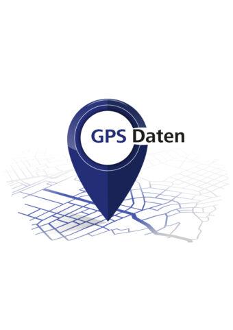 Hier sieht man einen blauen Pin als Symbol für die Camino Primitivo GPS-Daten