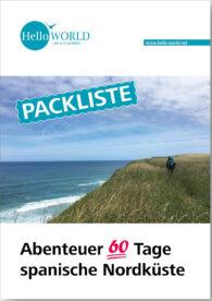 Dieses Bild zeigt das Cover der Pdf-Packliste zum Abenteuer 60 tage spanische Nordküste