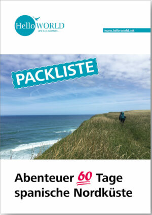 Dieses Bild zeigt das Cover der Packliste zum Abenteuer 60 Tage Camino del Norte.