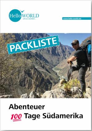 Dieses Bild zeigt das Cover der Pdf-Packliste für das Abenteuer 100 Tage Südamerika