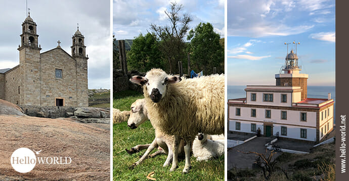 Das ist das Einstiegsbild zur Galerieserie des Camino Finisterre, in der Bilder 25 Aufnahmen vom Weg zwischen Santiago und Finisterre zeigen.
