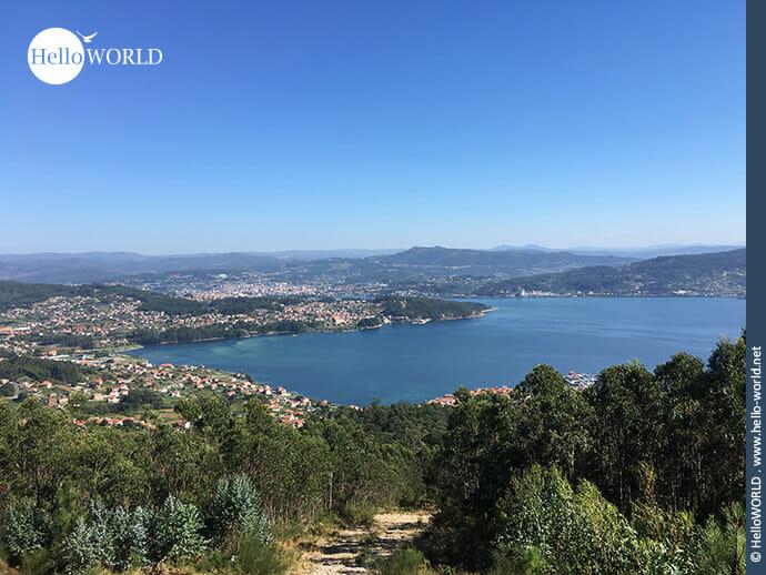 Aussicht über die Ria de Pontevedra