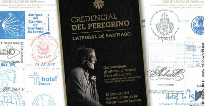 Die Abbildung zeigt den offiziellen Jakobsweg Pilgerausweis.