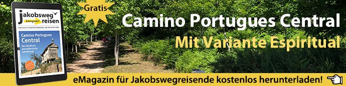 Werbebanner für das eMagazin zum Schwerpunkt Camino Portugues Central