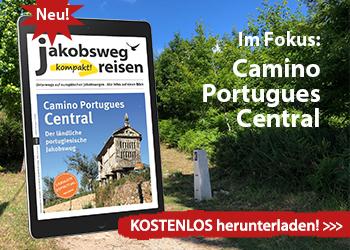 DAs ist der Werbebanner für das eMagazin Camino Portugues Central