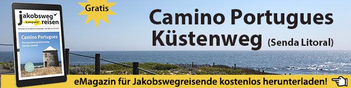 Banner für das eMagazin Camino Portugues Küstenweg