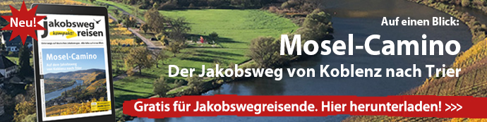 Hier sieht man den Download-Banner für JakobswegReisen kompakt! Mosel-Camino.