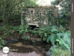 Altes Steinmühlengebäude auf der Variante Espiritual