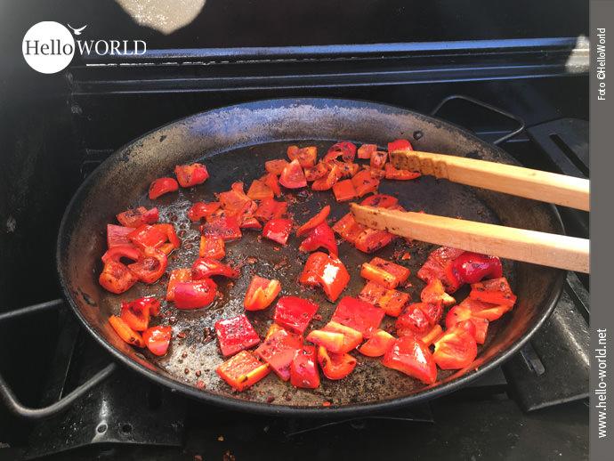 Paella á la HelloWorld . Zubereitung Schritt 3