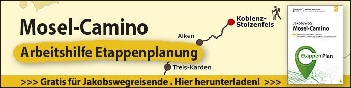 Das ist der Werbebanner für die Mosel-Camino Etappenplanung.