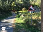 25 Prozent Steigung auf der Camino-Variante Espiritual