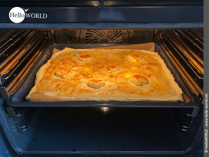 Jetzt heißt es reif für den Ofen bei 30 Minuten Backzeit