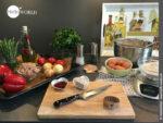 Mise en place für die galicische Empanada mit Thunfisch