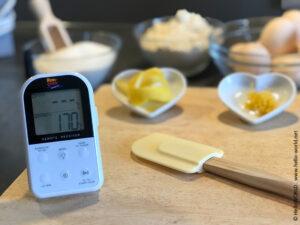 Hier sieht man die Backofentemperatur für das Backen des spanischen Mandelkuchens.