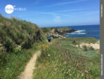 Perfekte Landschaft bei der Küstenwanderung