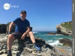 Pause auf dem spanischen Küstenweg