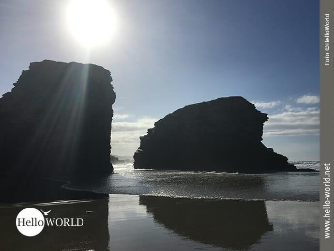 Licht- und Schattenspiel am Praia das Catedrais