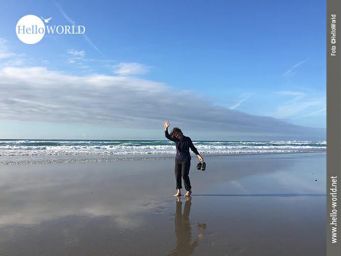 Weiter Strand am Praia das Catedrais