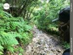 Steiniger Untergrund bei Regen