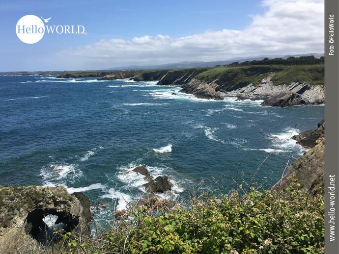 Beispielhafte Nordküstenansicht in Spanien