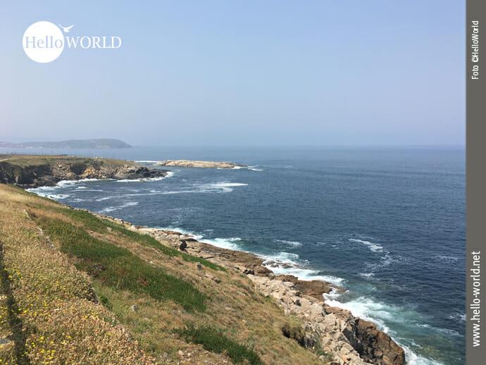 Ausblick an der spanischen Nordküste bei A Coruna