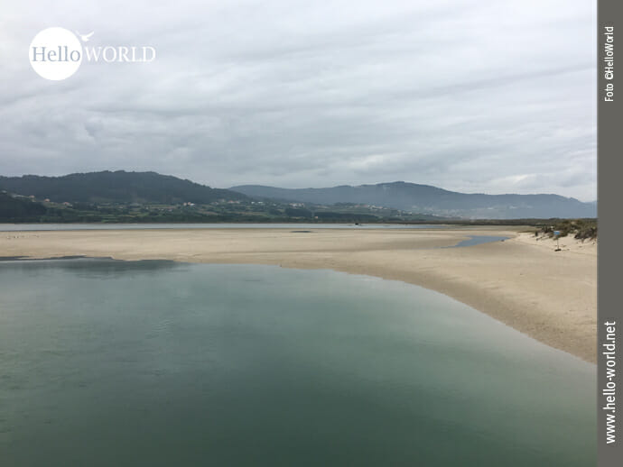 Lagoa de Baldaio: Meer, Lagune und Sumpfgebiet