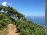 Attraktiver Pfad an der spanischen Nordküste