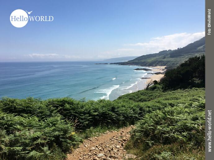 Blick zurück auf den Praia do Rias