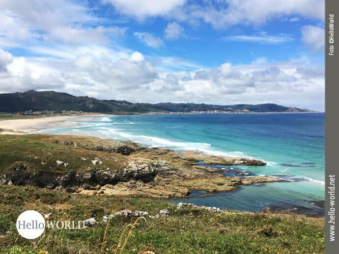 Traumhaft: der Praia de Traba bei Sonnenschein