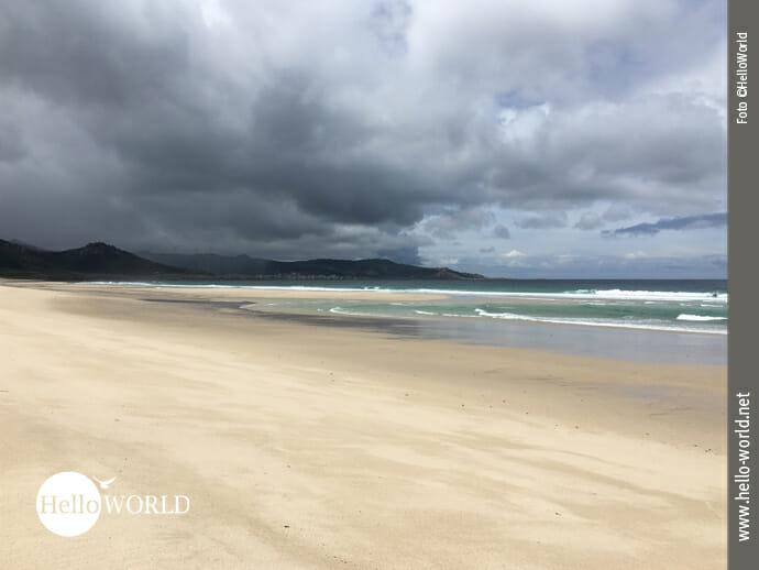 Unwetter im Anzug am Praia de Traba