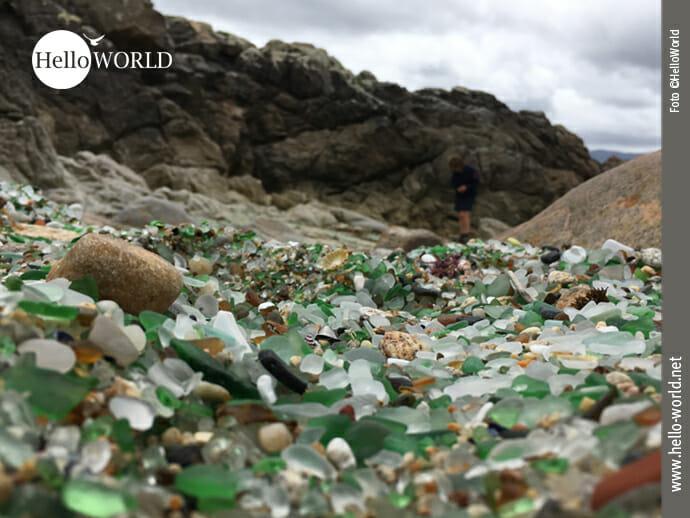 Playa de los Cristales an der Costa da Morte
