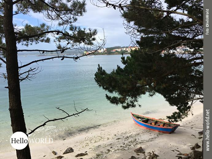 Blick zurück Richtung Camarinas vom Playa de Lingunde