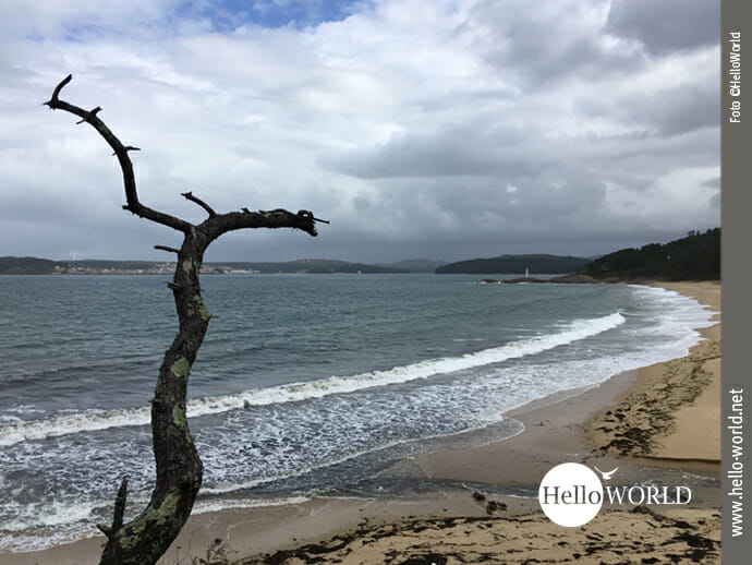 Blick zurück auf den Praia do Lago an der Costa da Morte