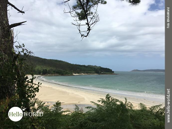 Herrlich gelegen: der Praia de Muinos