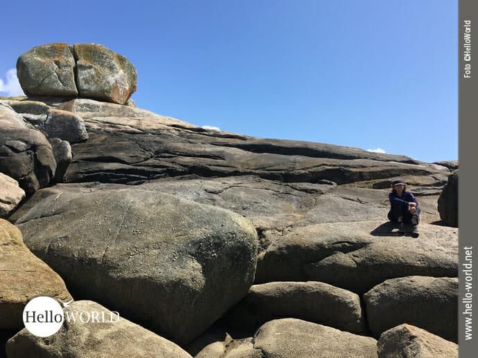 Gigantische Felsen an der Costa da Morte bei Muxia