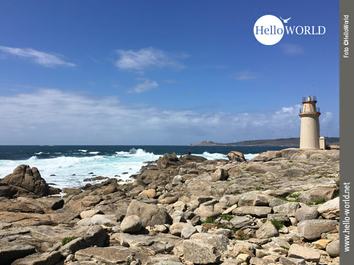 "Leuchtturm ""Faro de Muxia"" an der Costa da Morte"