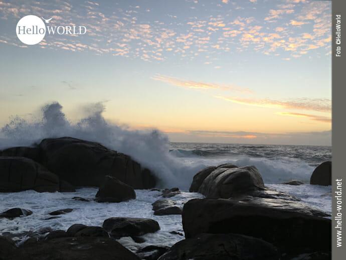 Meeresrauschen bei Sonnenuntergang in Muxia