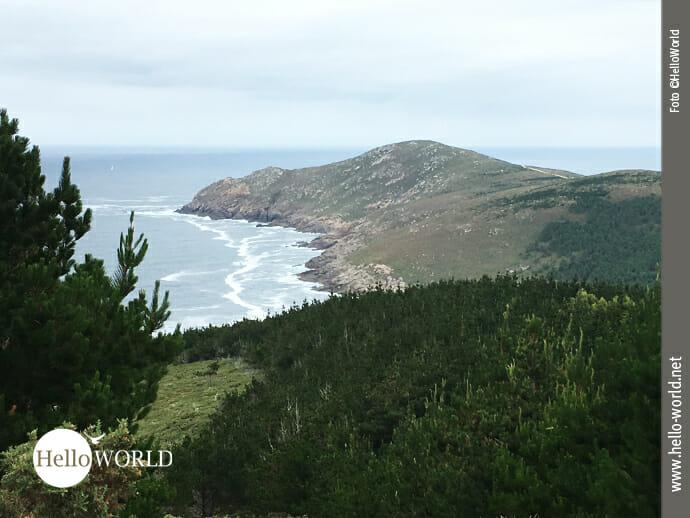 Ausblick auf den Küstenabschnitt Richtung Moreira