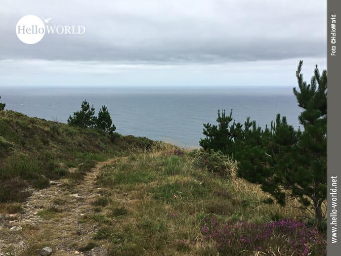 Wegbeispiel von der Costa da Morte Richtung Moreira
