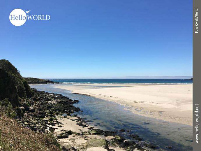 Blick auf den Atlantik an der Ria de Lires