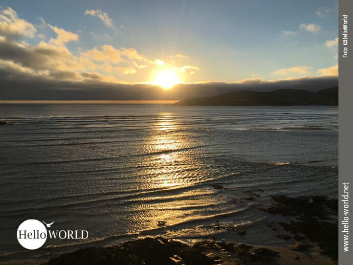 Sonnenuntergang an Spaniens Nordküste bei Lires