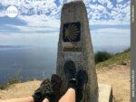 Der Null-Kilometer-Stein an der spanischen Nordküste